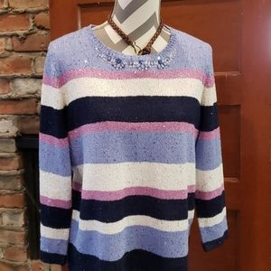 Alfred Dunner Sparkly Sweater Size Medium